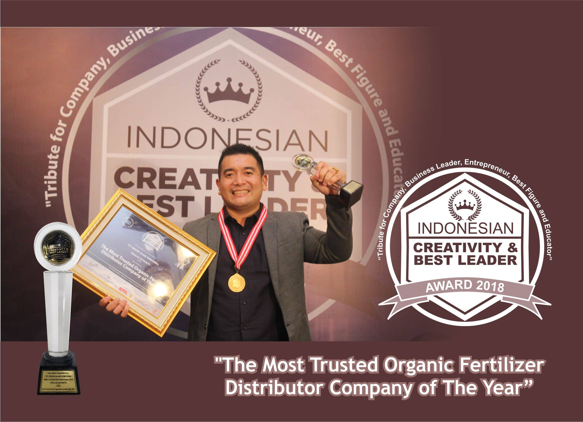 penghargaan the most trusted organic fertilizer distributor company of the year