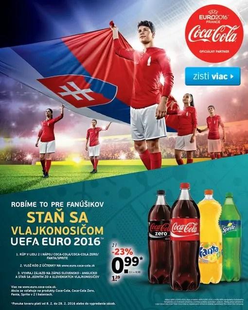 Lidl SK Portabandiera con Coca Cola