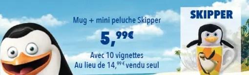 Auchan DreamWorks Mug + Mini Peluche Skipper