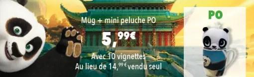 Auchan DreamWorks Mug+ mini Peluche Po