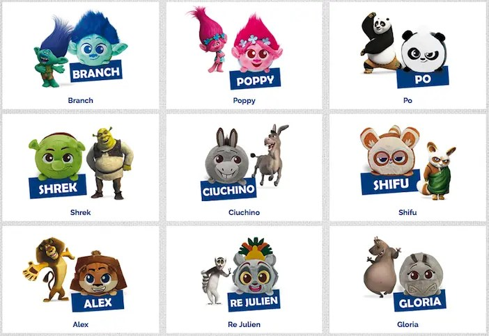 DreamWorks Peluche sortiment