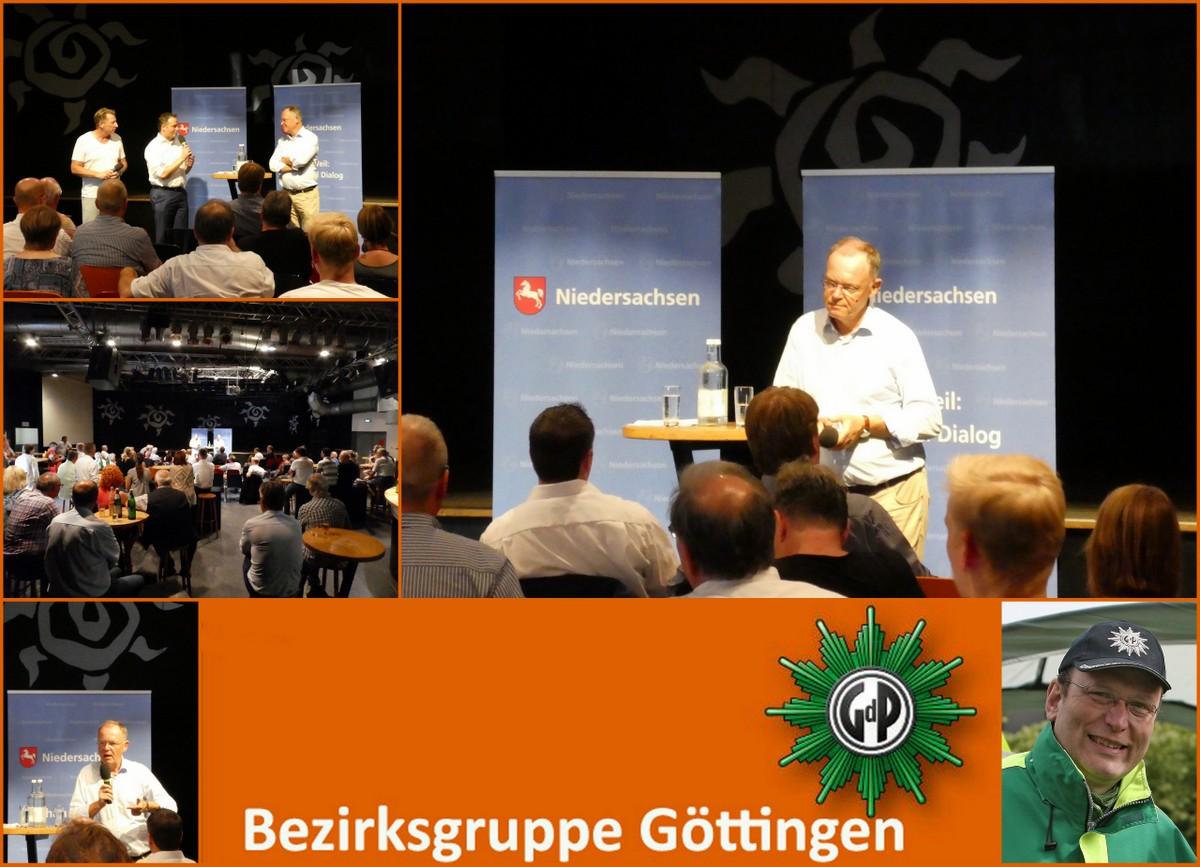 GdP BG Göttingen Teil des Bürgerdialogs mit Ministerpräsident Stefan Weil in Hameln