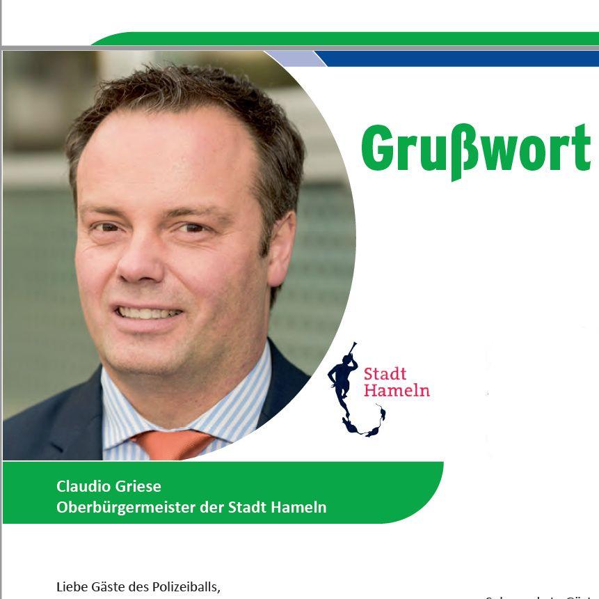 Polizeiball 2018 – Grußwort Oberbürgermeister Claudio Griese
