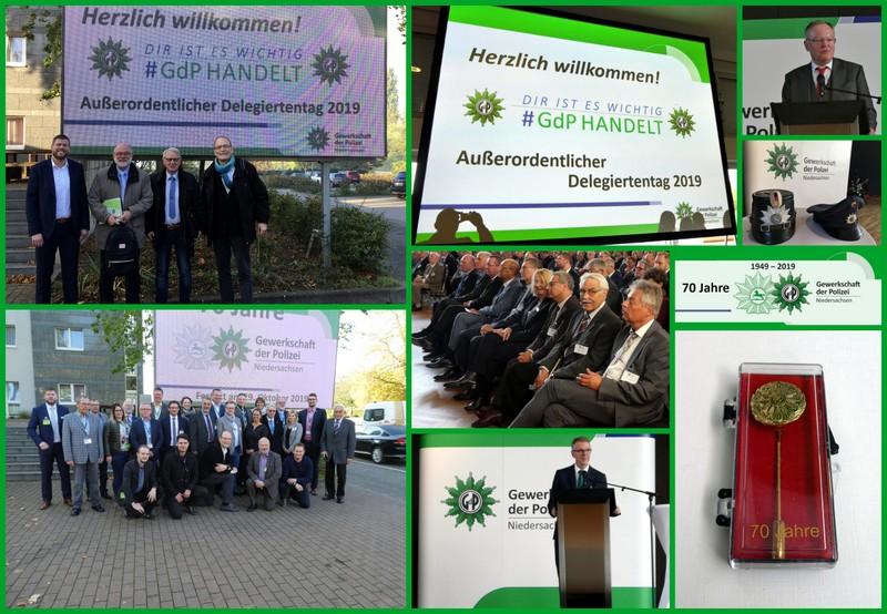 Impressionen zum Landesdelegiertentag der GdP Niedersachsen am 29.10.2019