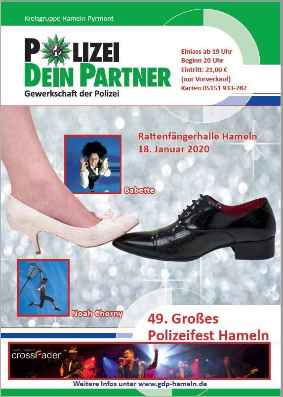 Einladung zum Polizeiball 2020 in Hameln