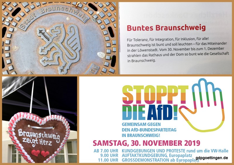Verlaufsbericht  AfD-Braunschweig-Protesttag! Auch Mensch:  Polizist – Bürger – Gewerkschafter – Personalrat – Christ
