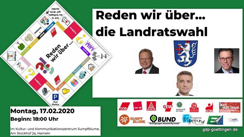 Fragen zur Landratswahl in Hameln-Pyrmont. Einladung zu einem ernsthaften (!) Spiel: