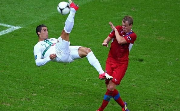 Cristiano Ronaldo (in action) and screen shots from PES 2013