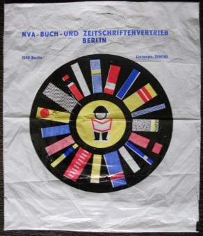 Polyethylene bag from National People's Army Book and Magazine Distribution Berlin (47 cm X 39 cm)