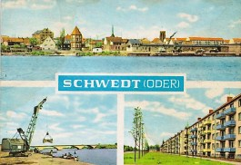 Schwedt, a small town on Polish border transformed into an industrial centre and the GDR's third 'socialist city' during the 60s/70s (Bild u. Heimat, 1965)