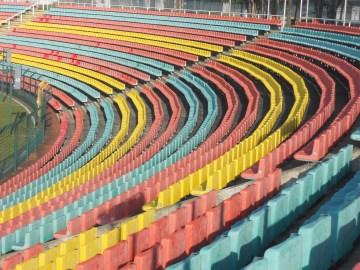 The curve in Jahn Sportpark (photo: author).