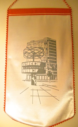 Reverse side of pennant cheekily featuring Berlin's Alexanderplatz, part of of rival BFC's turf (photo: editor).