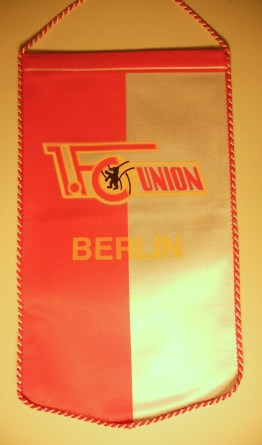 1. FC Union pennant from late 1970s / early 1980s (photo: editor).