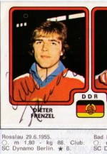 Dieter Frenzel in Panini's Hockey 79 album, complete with autograph - from author's collection!