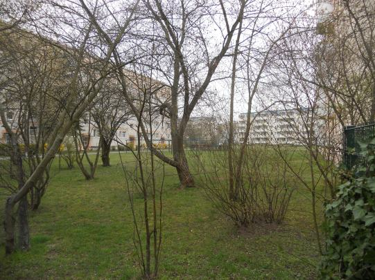 "Apartment block from mid-60s on outer edge of ""semi-circle"" in Schwedt's core (photo: author)"