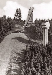 Postcard of ski jump at Oberhof circa 1980.