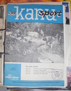 """I collected every article I could find about the sport from the East German papers."": Der Kanusport - a 1975 issue of the GDR's magazine covering canoeing, from Kordula Striepecke's collection (photo: Striepecke archive)"