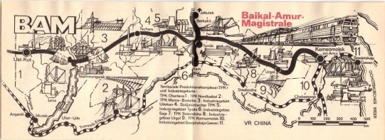 The Baikul- Amur Mainline - the 4000+ km railroad built by Soviets is featured here.