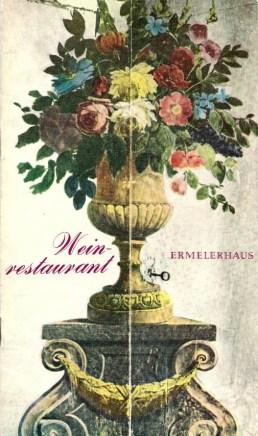 Ermeler House - menu front