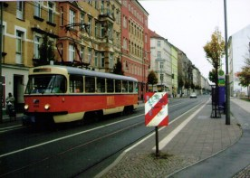 One of the Leipzig transit system's reliable Tatra streetcars (photo: author)