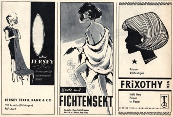 Advertisements from Sibylle 6 1969.