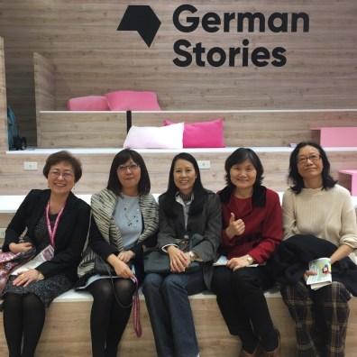 輔仁大學德文系系主任劉惠安(左一)與台北歌德學院工作人員