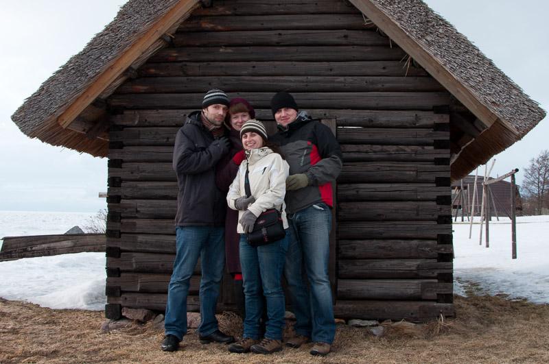 Z Jeleną i Sergeiem, Tallinn.