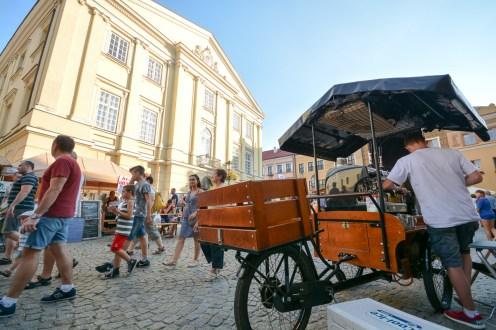 Kawiarnia na rowerze na Rynku