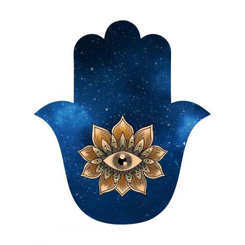 Amuleto Hamsa con occhio