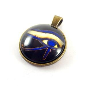 Ciondolo Occhio di Horus blu