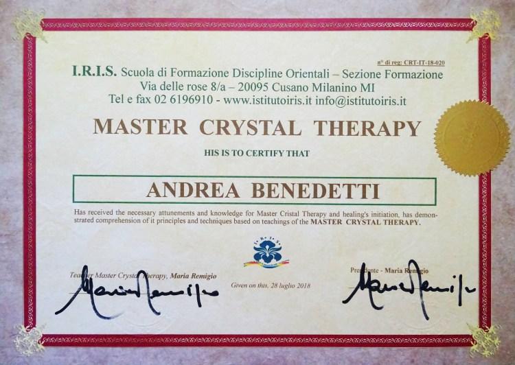 Attestato Master Cristalloterapia