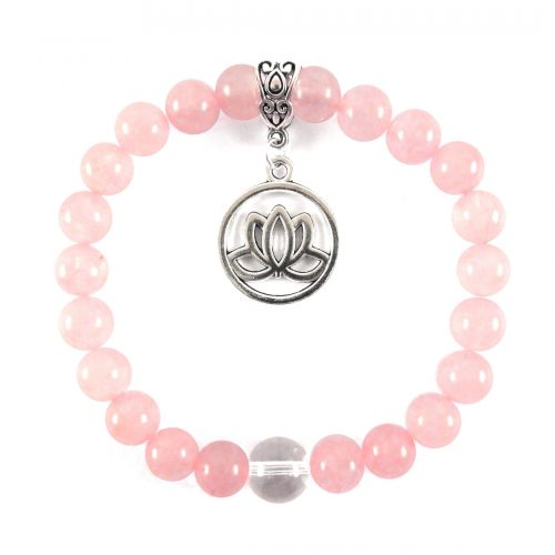 Bracciali per Cristalloterapia Quarzo rosa