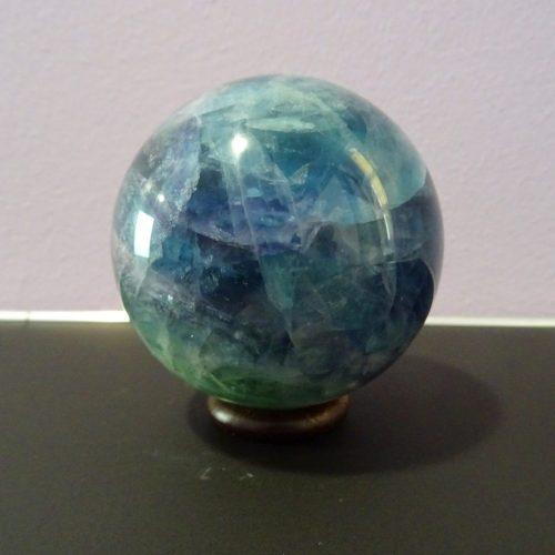 Sfera fluorite blu verde