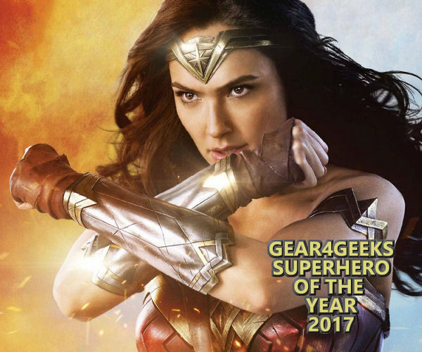 Gear4Geeks Superhero of the Year 2017 Wonder Woman