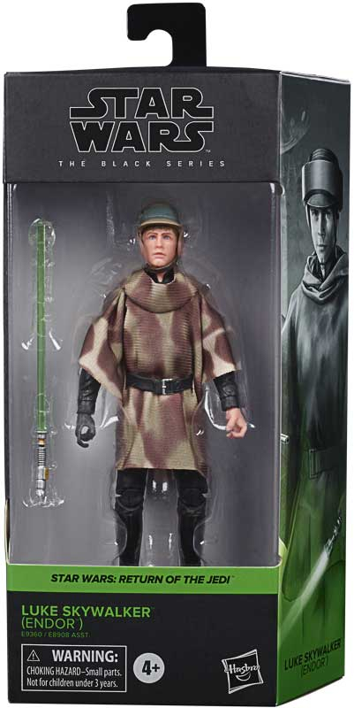 "Star Wars The Black Series Luke Skywalker Return of the Jedi Endor 6"" Action Figure"