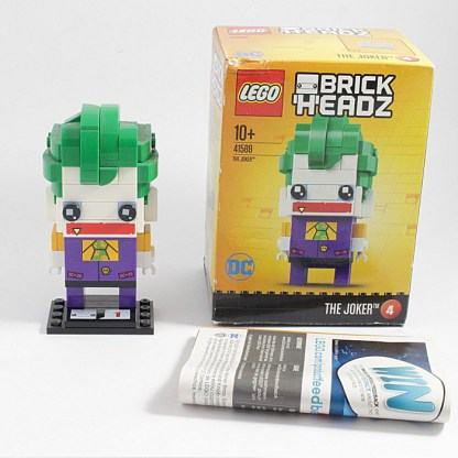 LEGO 41588 Brickheadz The Joker Building Set Toy PREOWNED