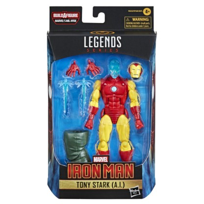 Marvel Legends Iron Man Tony Stark A.I. Action Figure Toy with Mr Hyde BAF Part