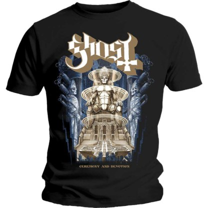Ghost T-Shirt Ceremony and Devotion Album Cover