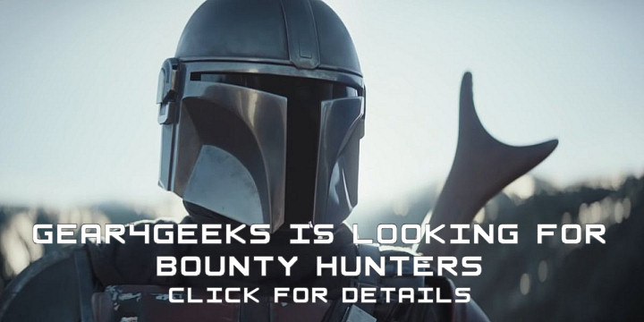"""An image of The Mandalorian with the text """"Gear4Geeks is looking for bounty hunters - click for details"""". This is an advert for our affiliate programme."""