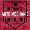Auto Mechanic Tools List