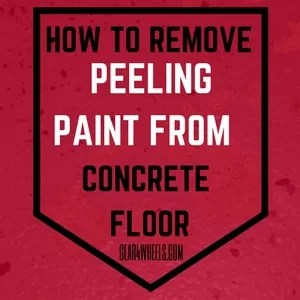 How to remove peeling paint from concrete floor