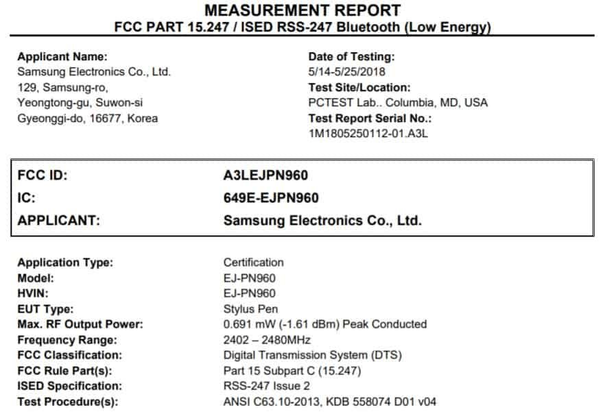 FCC Confirms Galaxy Note 9 S Pen Has Additional Functions