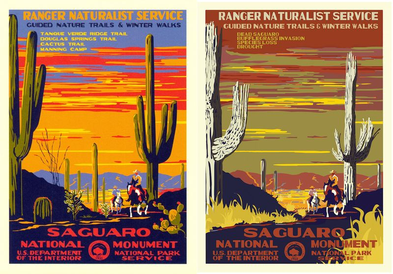 US National Park Post-Apocalyptic Poster