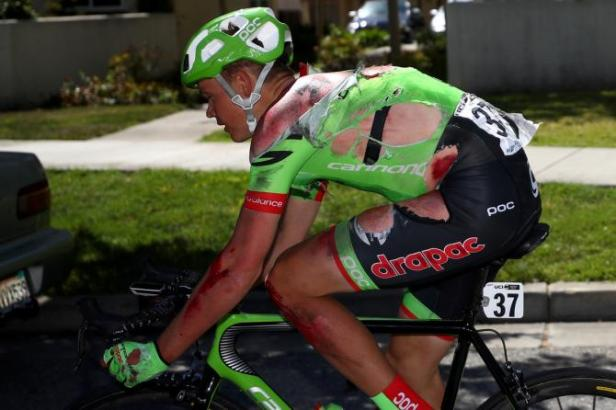Skujins following his Stage 2 Tour of California