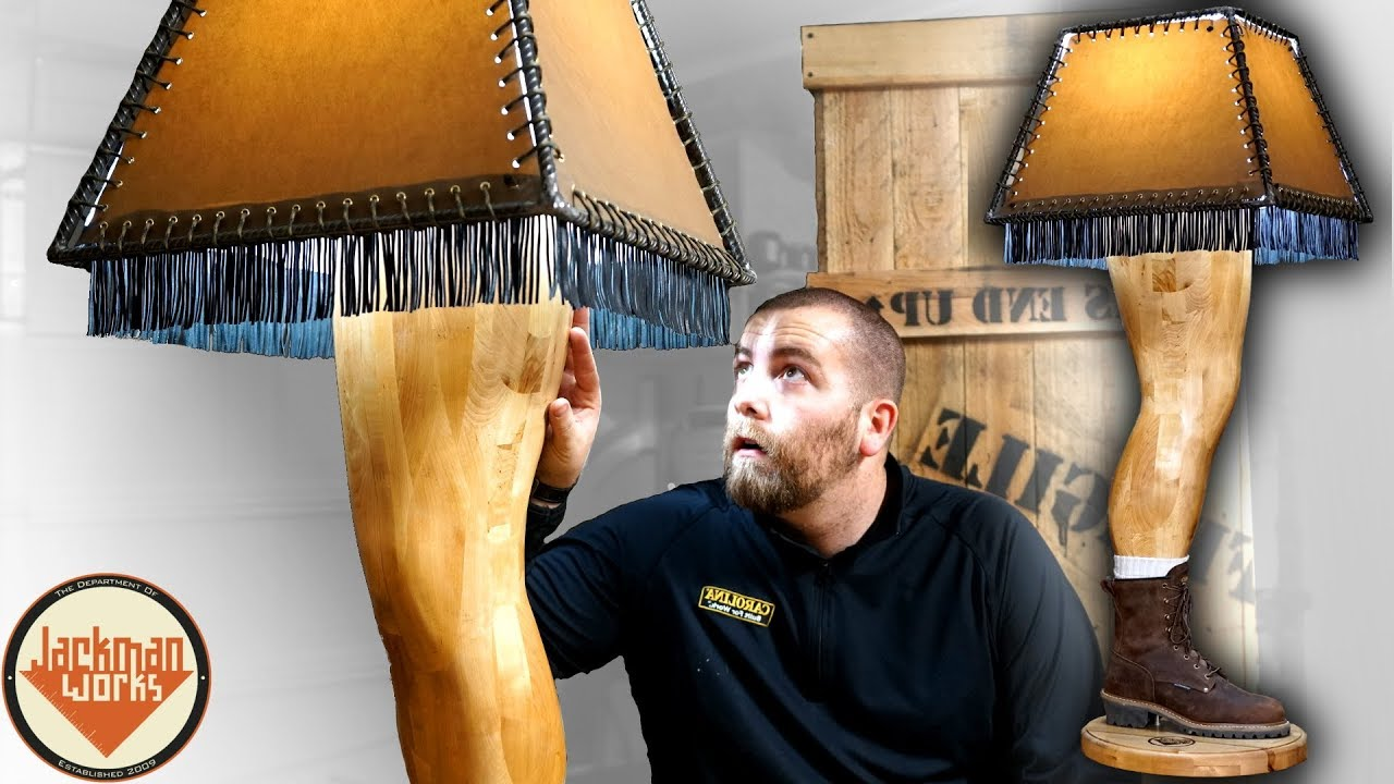 Woodworker Carves A Christmas Story Lamp Of His Own Leg 2