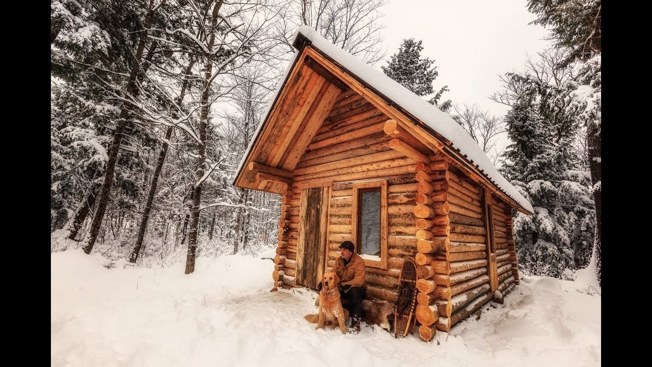 Watch this Timelapse of a Guy Building a Log Cabin in the Woods 8