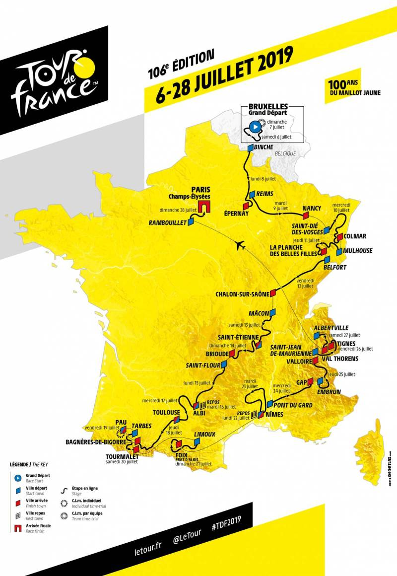 "The 2019 Tour de France Route is ""The Highest in History"" 2"