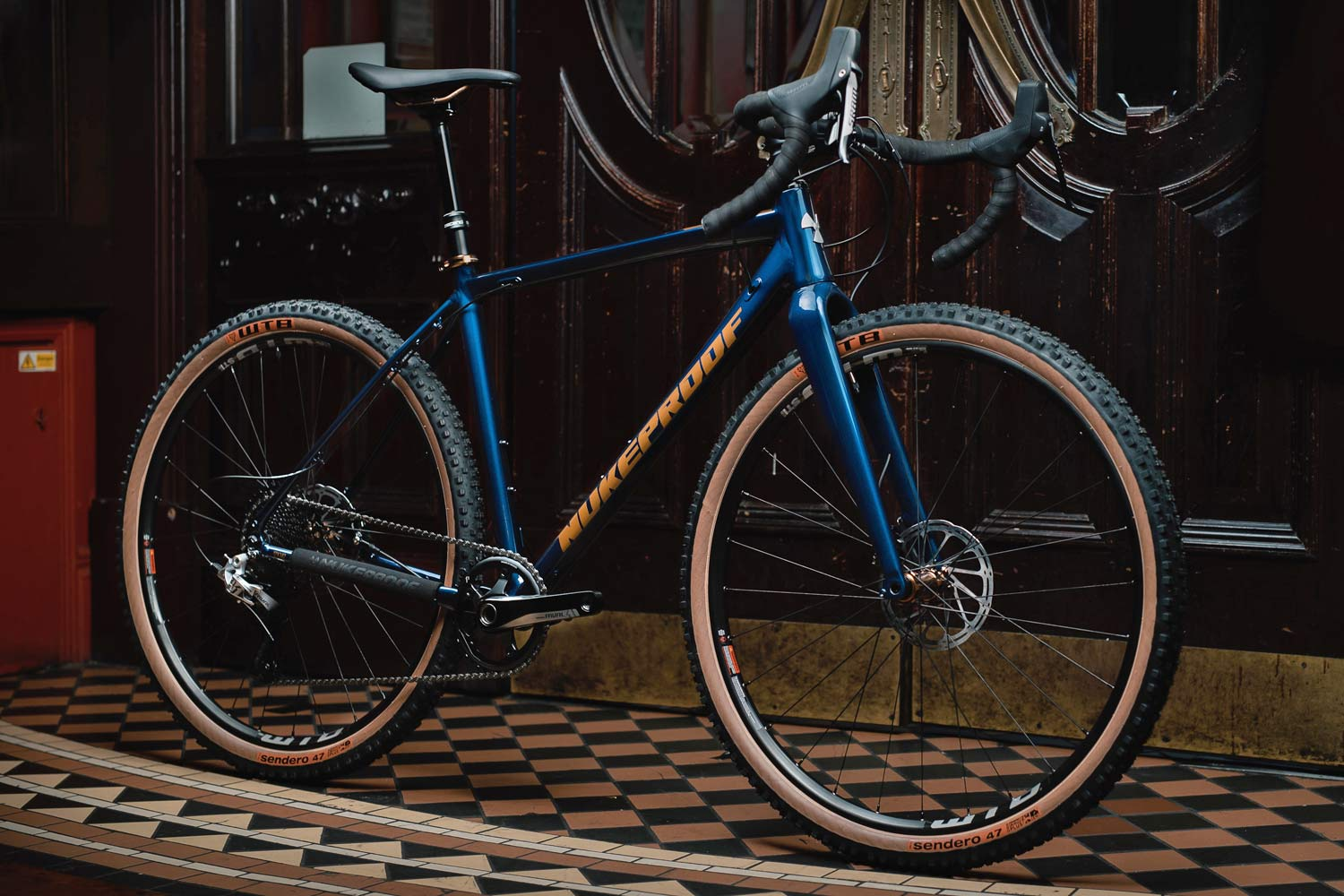 064e94f27d3 Both roll on WTB's new 47mm wide 650B Sendero Road Plus tires and tubeless-ready  wheels. The blue 2019 Nukeproof Digger Pro closely resembles the companies  ...