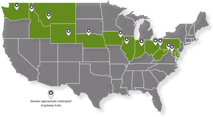 How About a Coast-to-Coast 4,000-Mile Rail-to-Trail Bike Route Across the US? 4