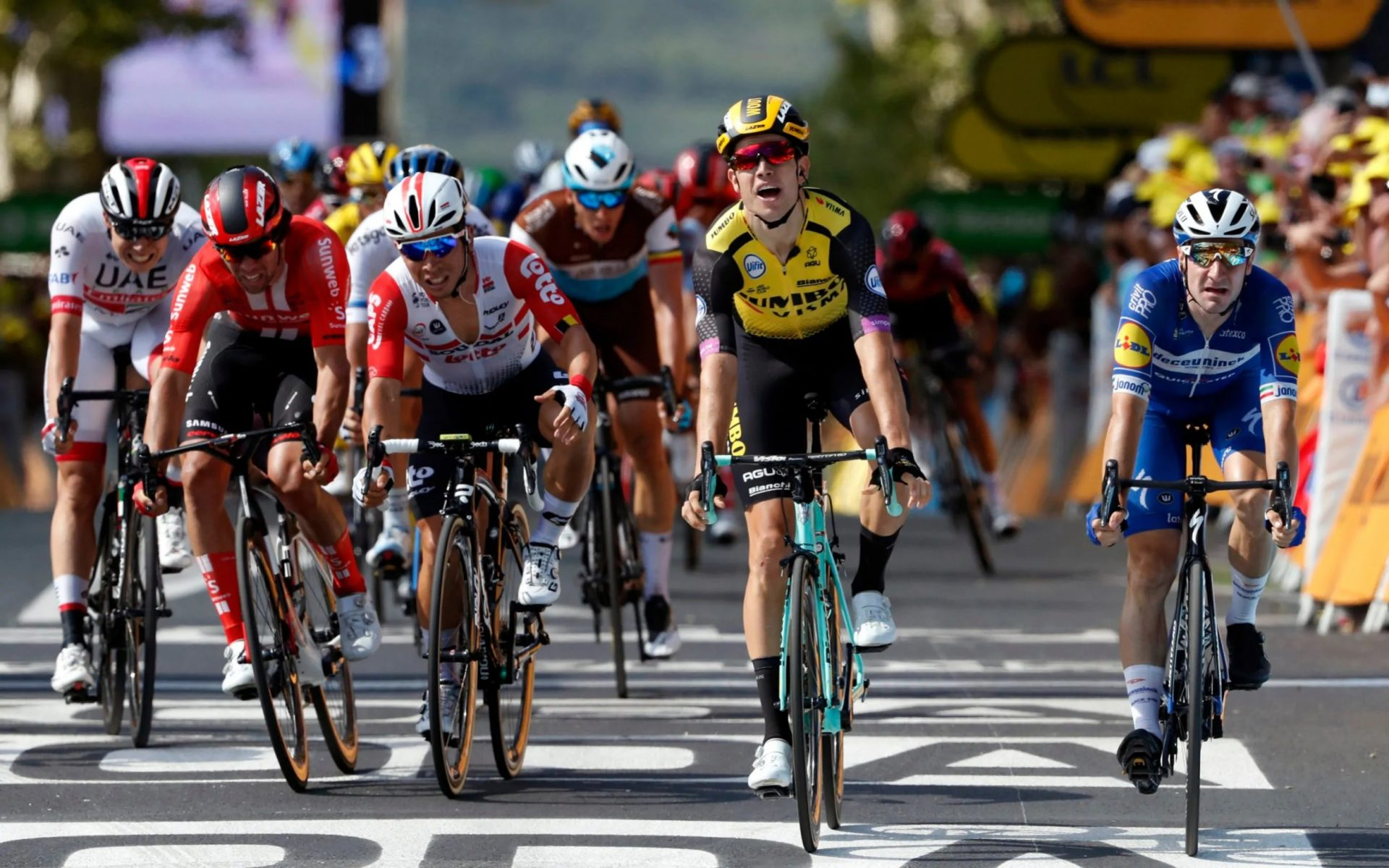 Van Aert Wins 2019 Tour de France Stage 10 and Some Big GC Contenders Lose Time 16